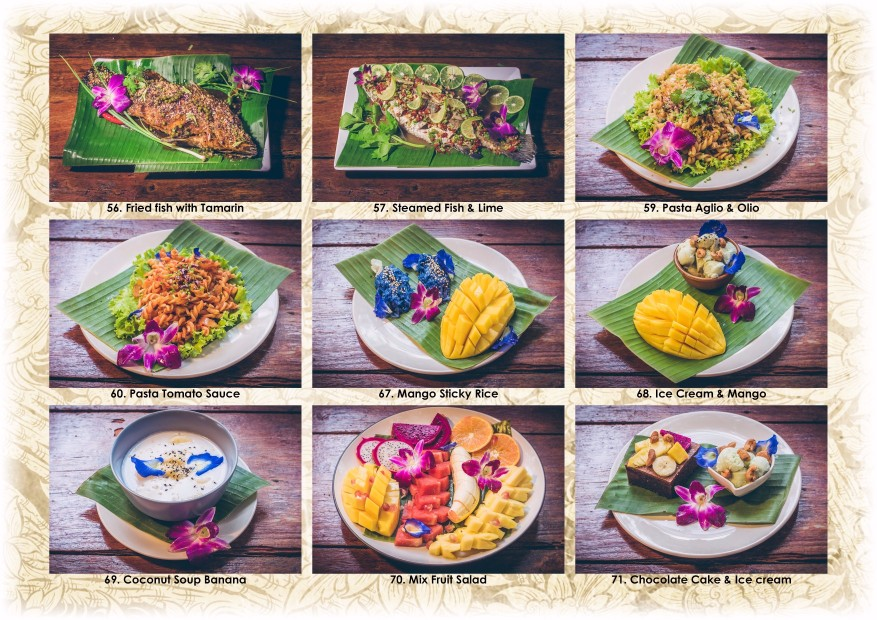 Blue Lagoon Koh Chang Restaurant Menu