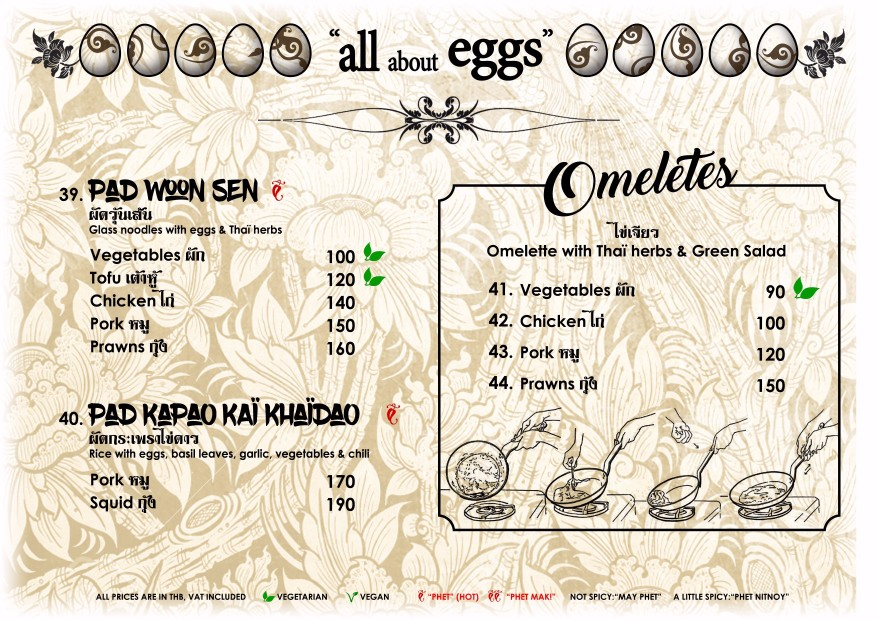 Thai Dishes and Eggs - Blue Lagoon Restaurant Koh Chang