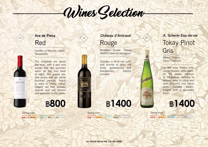 Blue Lagoon Koh Chang Wine List