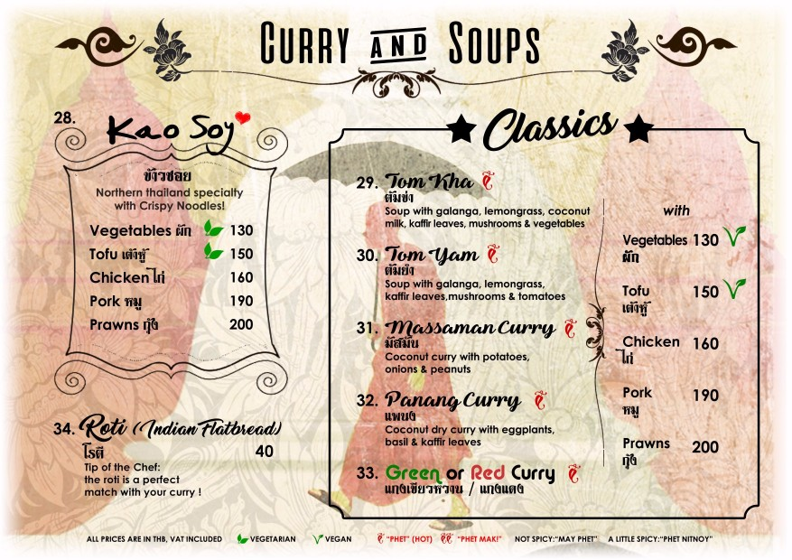 Thai Soups And Curries - Blue Lagoon Restaurant Koh Chang