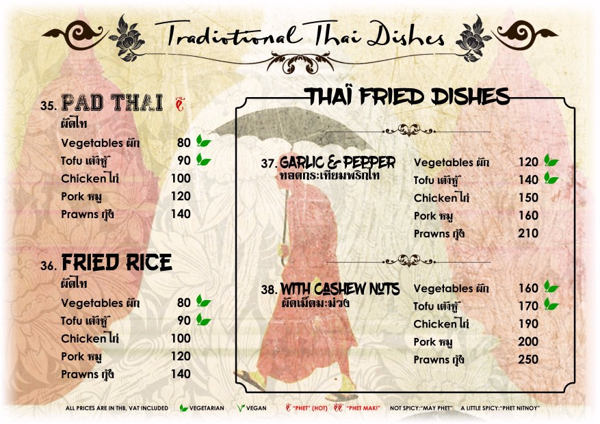 Traditional Thai Fried Dishes - Blue Lagoon Restaurant Koh Chang